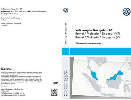 DVD-ROM para sistema de navegación CY, Brunei / Malasia / Singapur (V7)