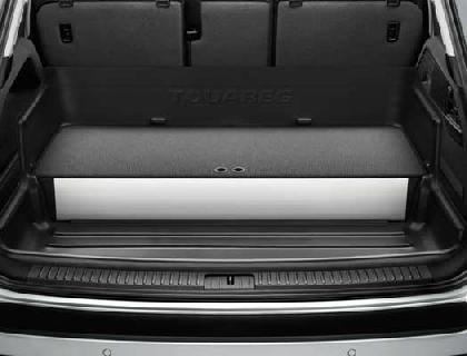 Elemento para maletero negro, con separadores y tapa