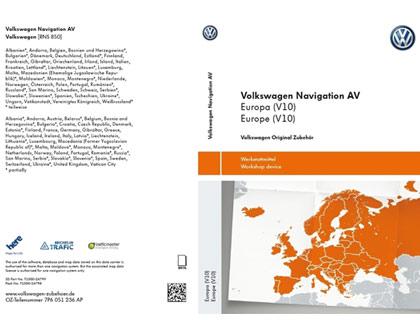 Tarjeta de memoria SD AV, Europa (V10)