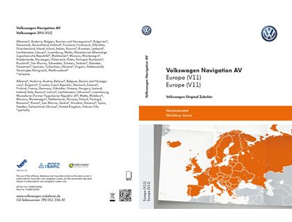 Tarjeta de memoria SD Volkswagen Navigation AV, Europa (V11), RNS850