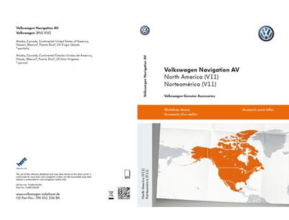 Tarjeta de memoria SD Volkswagen Navigation AV, Norteamérica (V11), RNS850