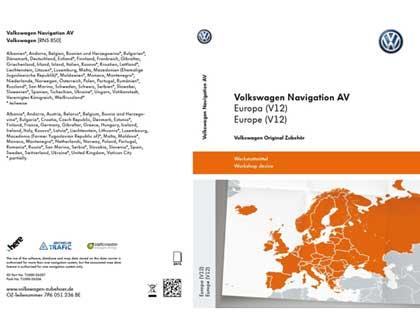 Tarjeta SD para sistema de radionavegación Volkswagen Navigation AV, Europa (V12), RNS850