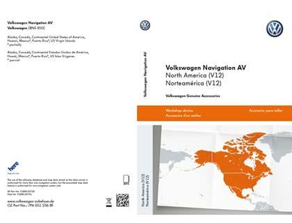 Tarjeta de memoria SD Volkswagen Navigation AV, Norteamérica (V12), RNS850