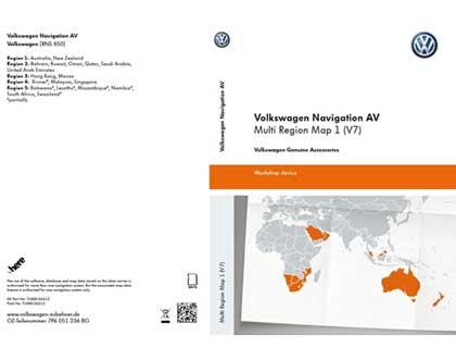 Tarjeta SD para sistema de radionavegación Volkswagen Navigation AV, Multi Region Map1 (V7), RNS850