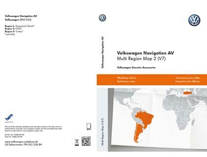 Tarjeta de memoria SD Volkswagen Navigation AV, Multi Region Map 2 (V7), RNS850