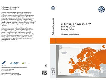 Documento de activación para la funcionalidad de la navegación AV, Europa (V10)