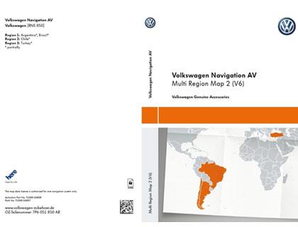 Documento de activación para la funcionalidad de la navegación AV, Mapa multi-región 2 (V6)