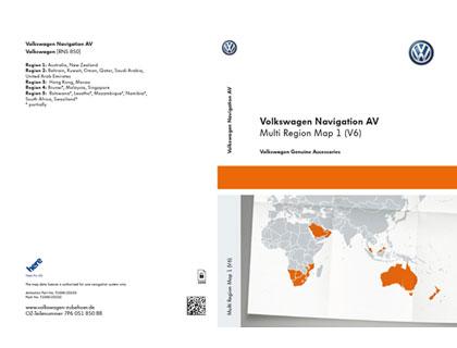 Documento de activación para la funcionalidad de la navegación AV, mapa multi-region 1 (V6) para RNS 850